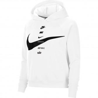 Ženski hoodie Nike Sportswear Swoosh ''White''