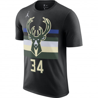 Kratka majica Air Jordan NBA Giannis Antetokounmpo Bucks Statement ''Black''
