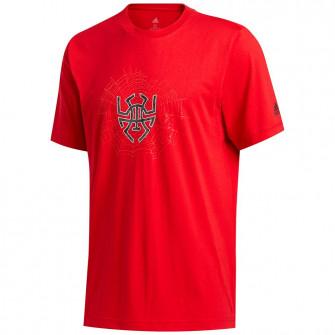 Kratka majica adidas D.O.N. Issue #2 Sense Logo ''Scarlet''