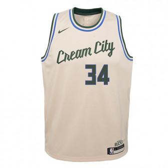 Dječji dres Nike Milwaukee Bucks Giannis Antetokounmpo City Edition ''Flat Opal''