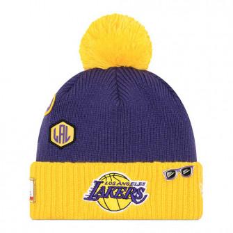 Zimska kapa New Era NBA18 Los Angeles Lakers Draft Knit