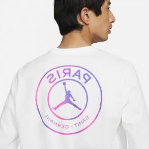 Majica Air Jordan Paris Saint-Germain Long-Sleeve ''White/Purple''