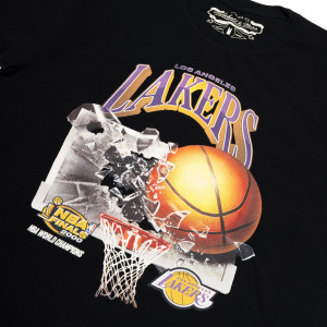 Kratka majica M&N NBA Los Angeles Lakers Champions Print ''Black''
