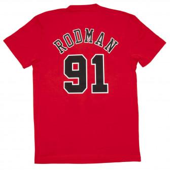 Kratka majica M&N NBA Chicago Bulls Dennis Rodman HWC Edition ''Red''