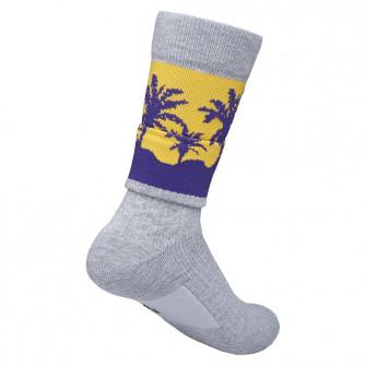 Nogavice Nike NBA Crew Los Angeles Lakers Courtside ''Grey/Amarillo''