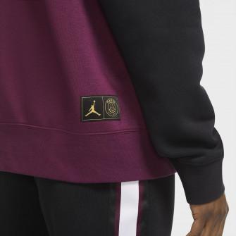Pulover Air Jordan Paris Saint-Germain Fleece ''Black/Bordeaux''