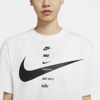 Ženska kratka majica Nike Sportswear Swoosh ''White''