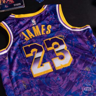 Dres Nike NBA Lebron James Lakers Select Series ''Field Purple/Amarillo''