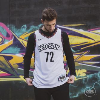Dres Nike NBA Biggie Brooklyn Nets City Edition ''White''