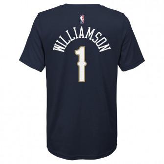 Otroška kratka majica Nike New Orleans Pelicans Zion Williamson ''College Navy''