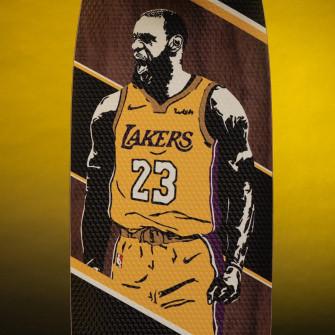 Skateboard Grosbasket x JH_Boards LeBron James ''The King''