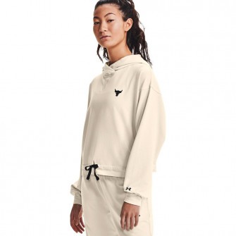 Ženski pulover UA Project Rock Terry ''Summit White''