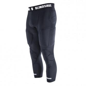 Kompresijske hlače Blindsave 3/4 Tights With Full Protection ''Black''