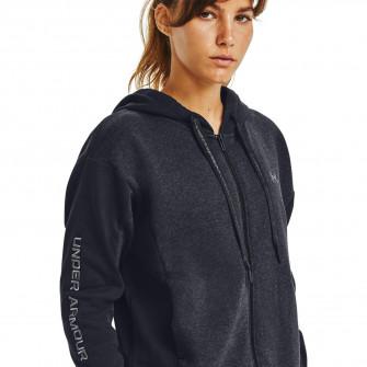 Ženski pulover UA Rival Fleece Embroidered Full Zip ''Black''