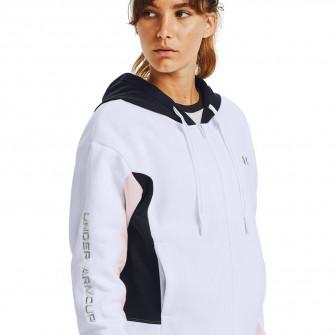 Ženski pulover UA Rival Fleece Embroidered Full Zip ''White''