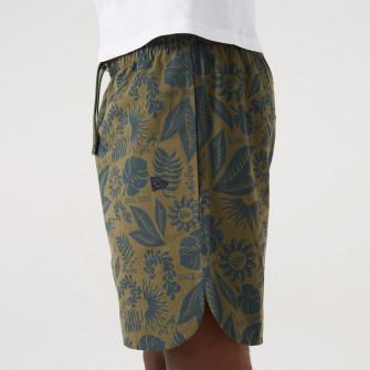 New Era Floral All Over Print Shorts ''Olive Khaki''