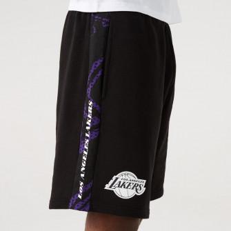 New Era Print Panel Los Angeles Lakers Shorts ''Black''