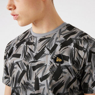 New Era Contemporary All Over Print T-Shirt ''Black''