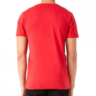 New Era NBA Chicago Bulls Team Logo Stripe T-Shirt ''Red''