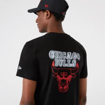 New Era NBA Chicago Bulls Neon Logo T-Shirt ''Black''