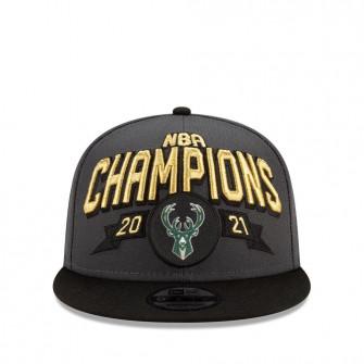 New Era Milwaukee Bucks NBA Champs 2021 9FIFTY Cap ''Grey''