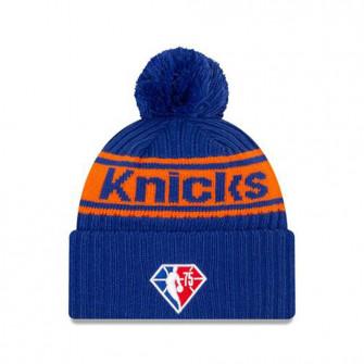 New Era NBA 2021 Draft NY Knicks Cuff Beanie ''Blue/Orange''