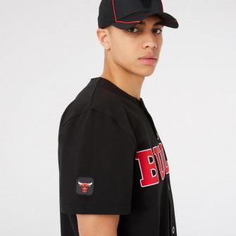 New Era NBA Chicago Bulls Baseball Button Shirt ''Black''