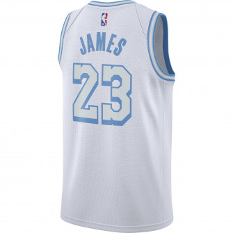 Nike NBA City Edition Los Angeles Lakers LeBron James Jersey ''White''