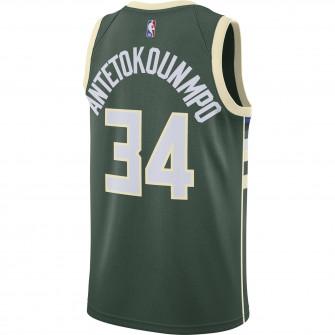Nike NBA Milwaukee Bucks Antetokounmpo Icon Edition 2020 Swingman Jersey ''Green''