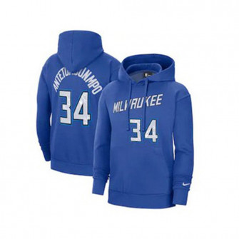 Nike NBA Milwaukee Bucks Antetokounmpo City Edition Kids Hoodie ''Blue''