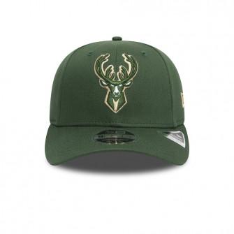 New Era Milwaukee Bucks Team Stretch 9FIFTY Stretch Snap Cap