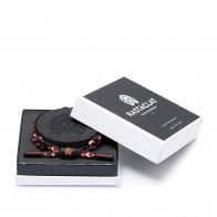 Rastaclat Flames With Box Braided Bracelet ''Black/Orange''