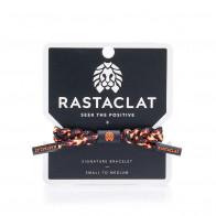 Rastaclat Flames Braided Bracelet ''Black/Orange''