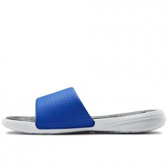 UA Playmaker Slides ''White/Versa Blue''