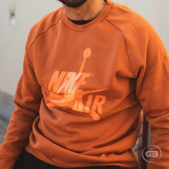 Men's Air Jordan Jumpman Classics Crew-Neck ''Dark Russet''